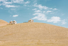 The old muslim crypts on a sandy hill in Central Asia Stock Image