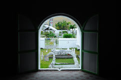 Old muslim grave yard at The Abidin Mosque in Kuala Terengganu, Malaysia Royalty Free Stock Photos