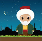 Old Muslim Man Royalty Free Stock Photo