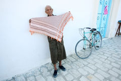 An old Muslim man in Kairouan Royalty Free Stock Photos