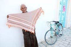 Old Muslim man in Kairouan Stock Photography