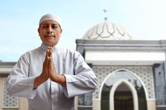 Old muslim man smiling Stock Images