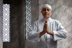 Old muslim man smiling Royalty Free Stock Photography