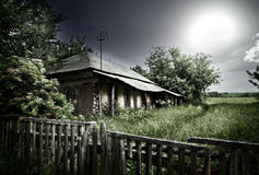 Old mysterious abandoned house Royalty Free Stock Photo