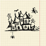 Old mystery house, halloween night Royalty Free Stock Photo