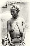 Old naked Ghanaian woman Stock Photography