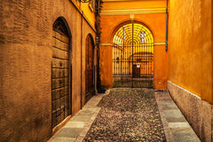 Old narrow colorful street Royalty Free Stock Photos