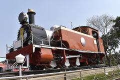 Old narrow gauge rail engine, popular as steam engine stock images
