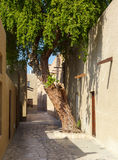 Old narrow street in Dubai Stock Images