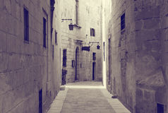 Old narrow  street of european town Royalty Free Stock Photography