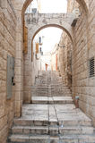 Old narrow street in Jerusalem Stock Image