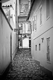 Old narrow street in Ljubljana Royalty Free Stock Photo