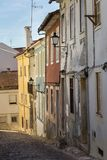 Old Narrow Street in Portuguese Town of Coimbra Stock Photography