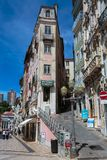 Old Narrow Street in Portuguese Town of Coimbra Stock Image