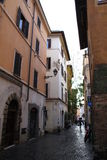 Old and narrow street in Rome Royalty Free Stock Photo