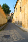Old narrow street in Vilnius, Lithuania Royalty Free Stock Photo