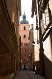 Old narrow street in Warsaw. Stock Image