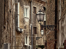 Old narrow street in Zagreb, Croatia Stock Photography