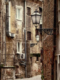 Old narrow street in Zagreb, Croatia Royalty Free Stock Photo