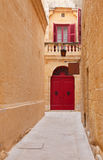 Old narrow town street Royalty Free Stock Images