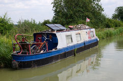 Old narrowboat/barge Stock Photography