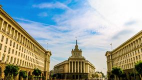Old National Assembly in Sofia, Bulgaria stock video