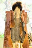 The old national clothes of the nomad. Fur hat and fur coat Royalty Free Stock Image