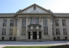 Old national library. In Zagerb Royalty Free Stock Photography