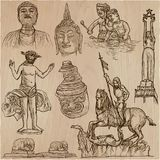 Old and native art, artworks - an hand drawn vector pack, freeha Stock Photography
