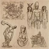 Old and native art, artworks - an hand drawn vector pack, freeha Stock Photos