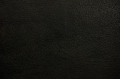 Old natural dark black grunge pattern, grungy grained leather texture background, horizontal textured macro closeup Stock Photography
