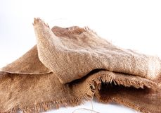 Old Natural linen. Useful for textures and backgrounds Royalty Free Stock Photo