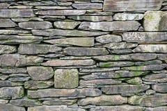 Old natural stone wall stock image