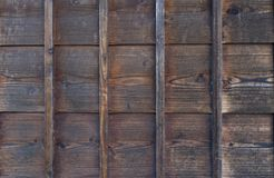 Old natural traditional japanese brown pine tile wooden texture Stock Photo