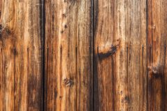 Old natural traditional japanese brown pine wooden texture wall Stock Image