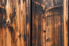 Old natural traditional japanese brown pine wooden texture wall Stock Photography