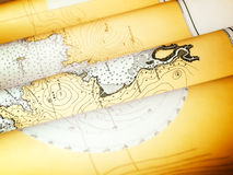 Old nautical chart Stock Photo