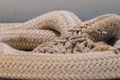 Old nautical rope close-up Royalty Free Stock Images