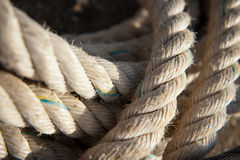 Old nautical ropes Royalty Free Stock Photos