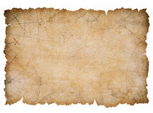 Old nautical treasure map with torn edges isolated Royalty Free Stock Photos