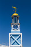 Old Naval Dockyard Clock. HALIFAX, CANADA - 24TH AUGUST 2014: The old Naval Dockyard Clock close to Halifax Waterfront stock photos
