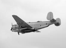 Old Navy bomber. World War II era Navy bomber in flight Royalty Free Stock Images