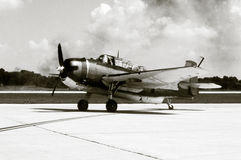 Old Navy Bomber. ABlack and White Photo of an old navy bomber and torpedo plane Stock Images