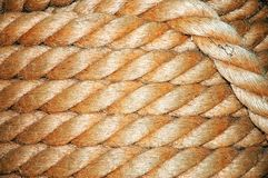 Old navy coiled rope background Stock Image