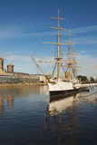 Old Navy Ship in Puerto Madero Stock Image