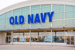 Old Navy Store Facade. Old Navy is a popular clothing and accessories retailer owned by American multinational corporation Gap Inc. It has corporate operations Royalty Free Stock Photos