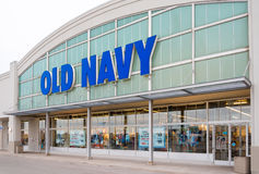 Old Navy Store Facade in Toronto. Old Navy is a popular clothing and accessories retailer owned by American multinational corporation Gap Inc. It has corporate Stock Photo
