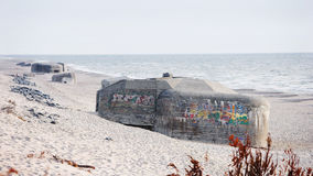 Old nazi bunker in Denmark Royalty Free Stock Photography