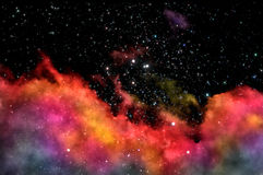 Old nebula. Stars shine through the clouds of a old nebula Royalty Free Stock Photo