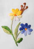 Old needlework. There is an old needlework in the photo Royalty Free Stock Photography
